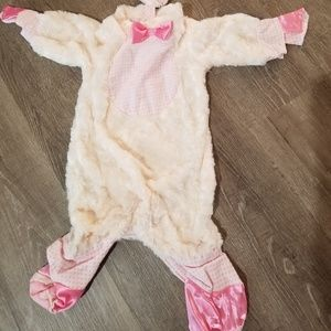 Baby Lamb Costume, Pink and Ivory